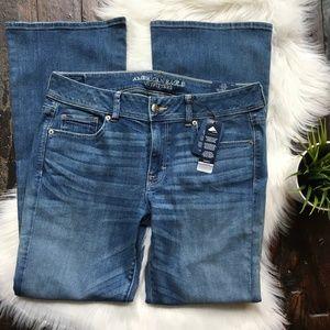 AMERICAN EAGLE AEO Kick Boot Cut Jeans 14 NEW NWT